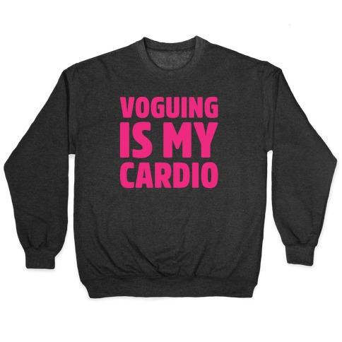 Voguing Is My Cardio Parody White Print Pullover