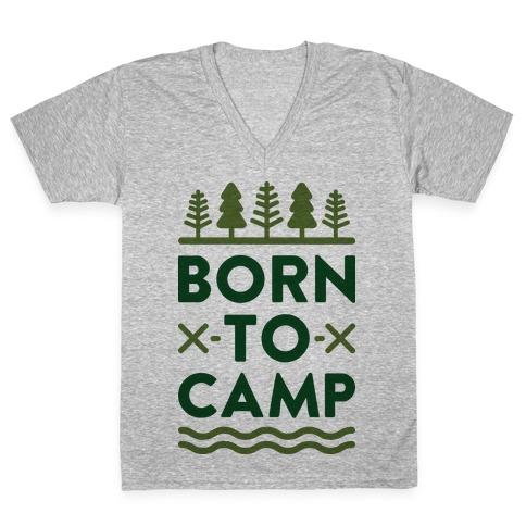 Born To Camp V-Neck Tee Shirt