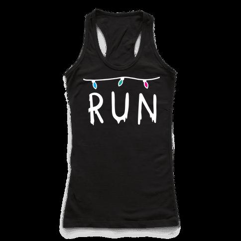 Run Stranger Things Racerback