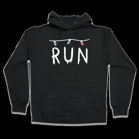 Run Stranger Things Hooded Sweatshirt