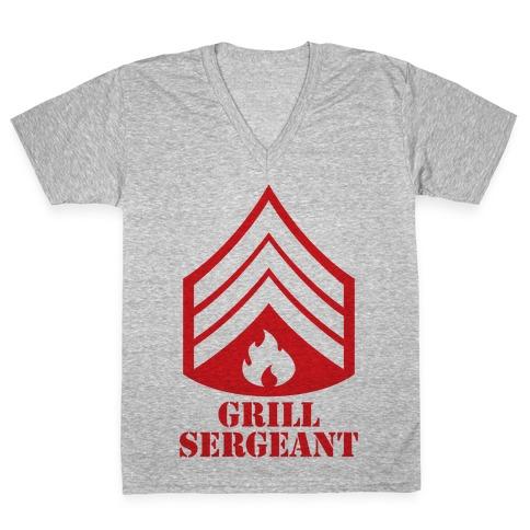 Grill Sergeant V-Neck Tee Shirt