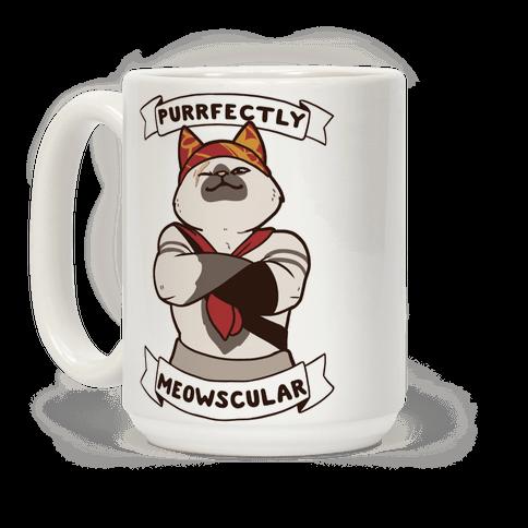 Purrfectly Meowscular  Coffee Mug