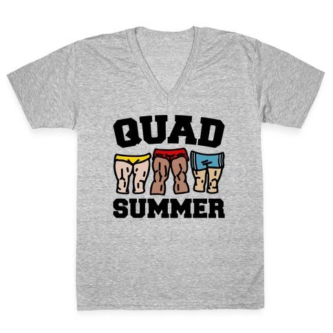 Quad Summer V-Neck Tee Shirt
