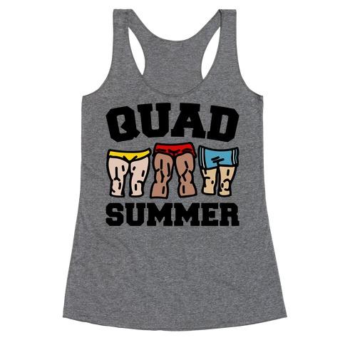 Quad Summer Racerback Tank Top