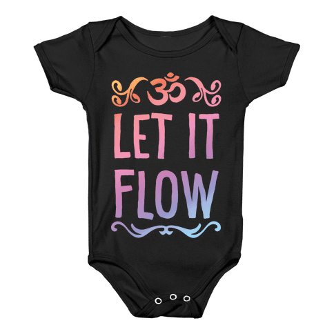 Let It Flow Yoga Baby Onesy
