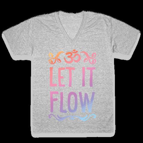 Let It Flow Yoga V-Neck Tee Shirt