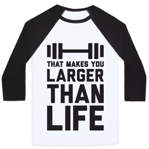 Larger Than Life Baseball Tee