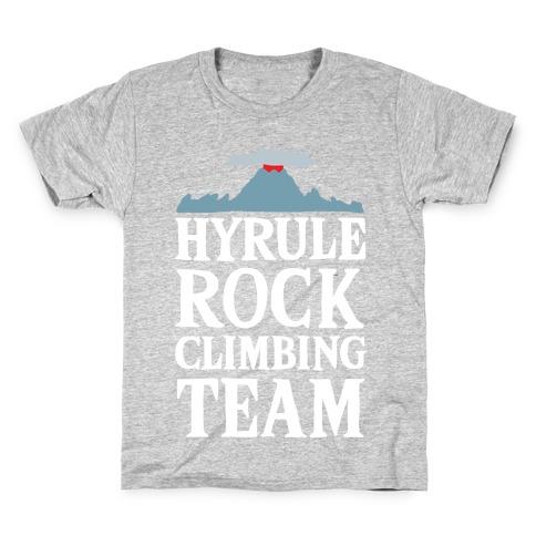 Hyrule Rock Climbing Team Kids T-Shirt