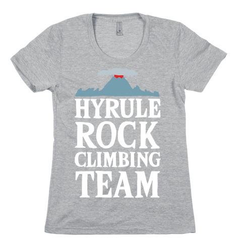 Hyrule Rock Climbing Team Womens T-Shirt