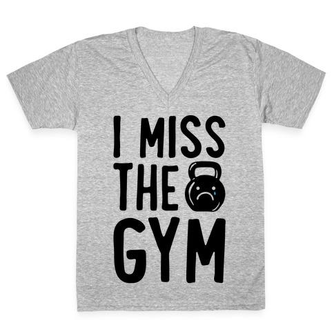 I Miss The Gym V-Neck Tee Shirt