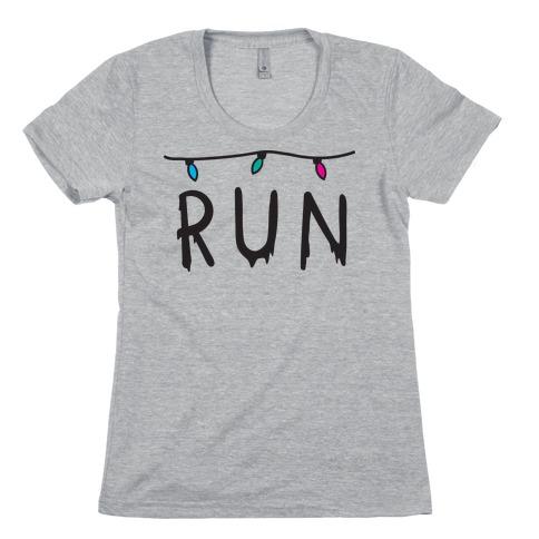 Run Stranger Things Womens T-Shirt