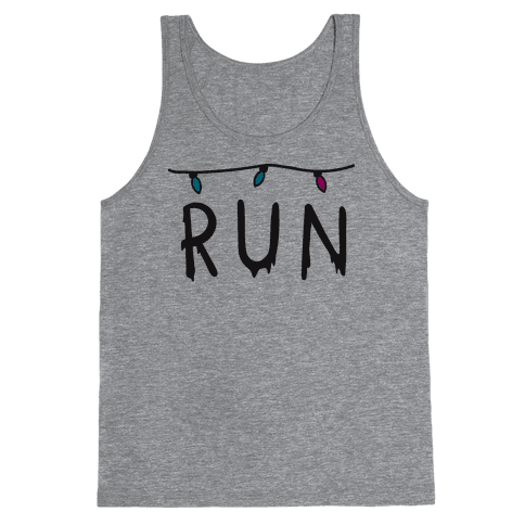 Run Stranger Things Tank Top
