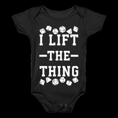 I Lift the Thing Baby Onesy