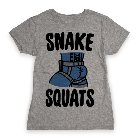 Snake Squats Parody Womens T-Shirt