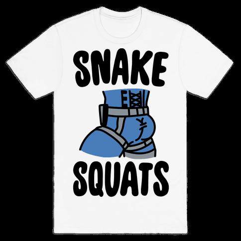 Snake Squats Parody Mens T-Shirt