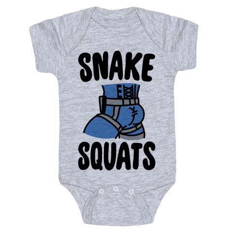 Snake Squats Parody Baby Onesy