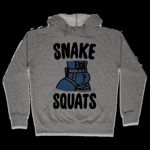 Snake Squats Parody Hooded Sweatshirt