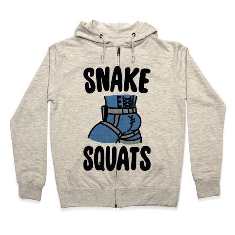 Snake Squats Parody Zip Hoodie
