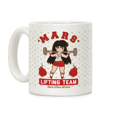 Mars Lifting Team Parody Coffee Mug