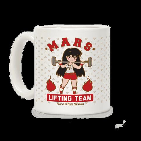 Mars Lifting Team Parody Coffee Mug