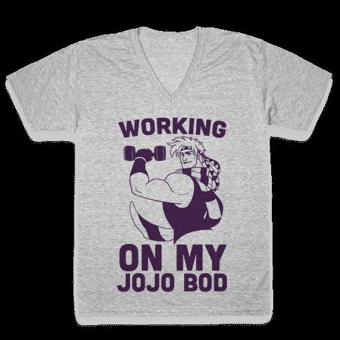 Working On My Jojo Bod V-Neck Tee Shirt