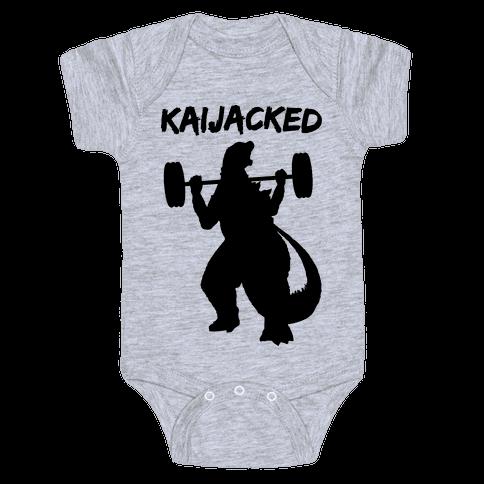 Kaijacked Kaiju Gozilla Baby One-Piece