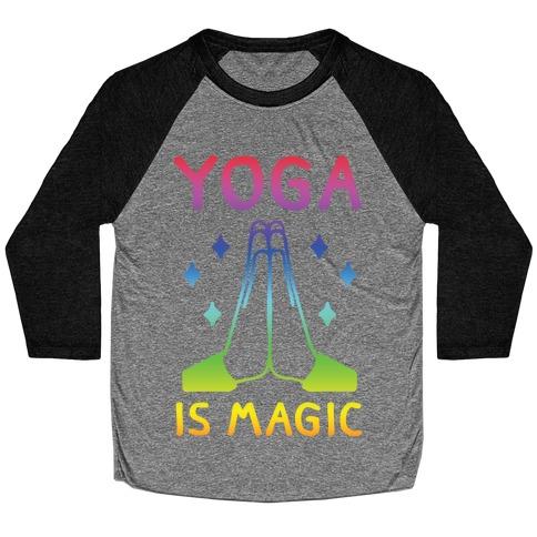 Yoga Is Magic Baseball Tee