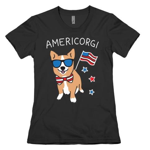AmeriCorgi Patriotic Corgi Womens T-Shirt
