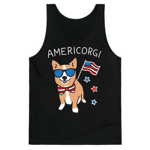 AmeriCorgi Patriotic Corgi Tank Top