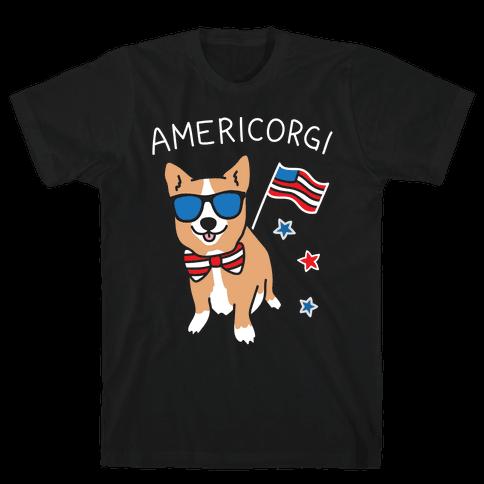 AmeriCorgi Patriotic Corgi Mens/Unisex T-Shirt