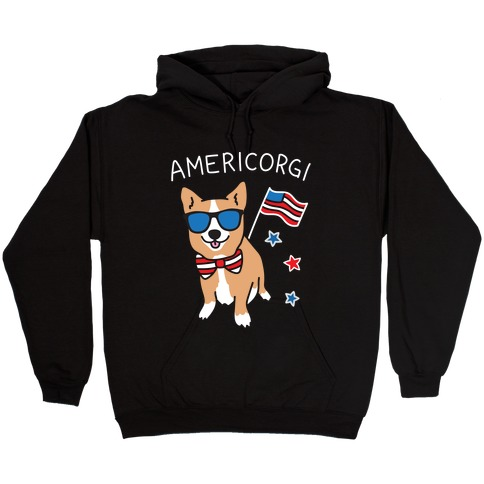 AmeriCorgi Patriotic Corgi Hooded Sweatshirt