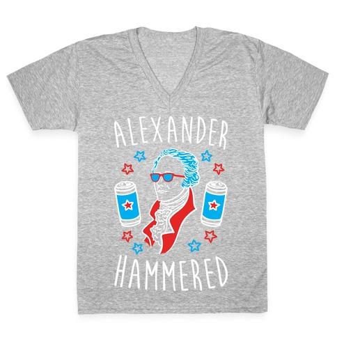 Alexander Hammered V-Neck Tee Shirt