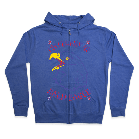 I'm Fluent in Bald Eagle Zip Hoodie