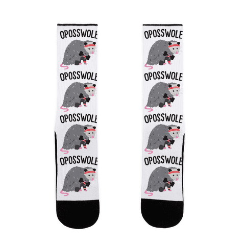 Oposswole Opossum Sock