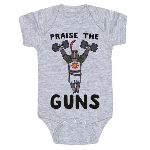 Praise the Guns - Dark Souls Baby Onesy