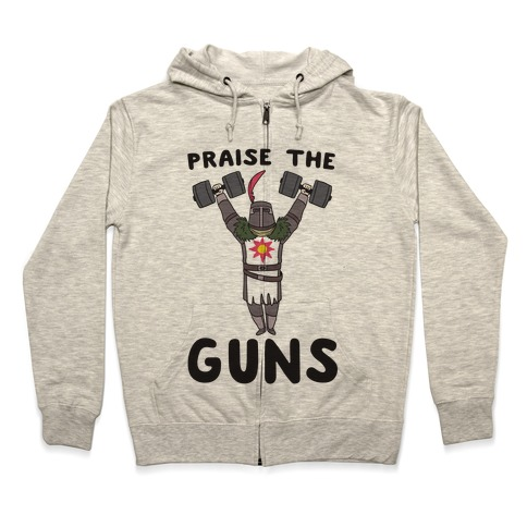 Praise the Guns - Dark Souls Zip Hoodie