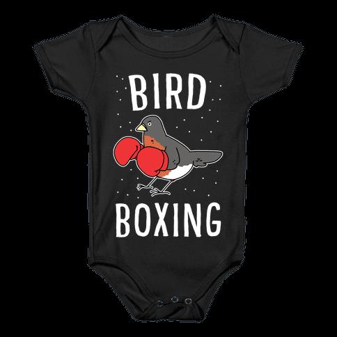 Bird Boxing Baby Onesy