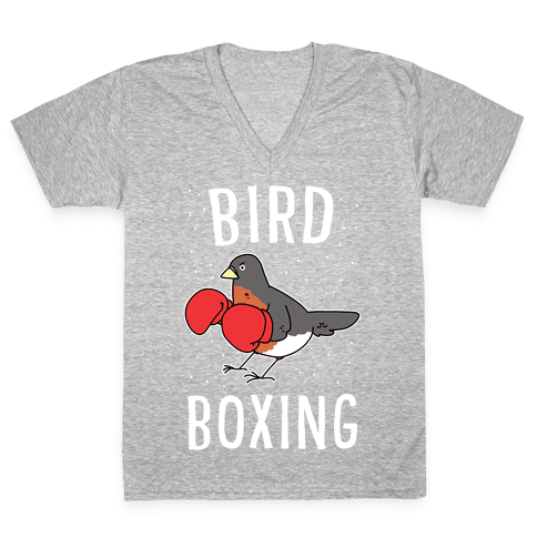 Bird Boxing V-Neck Tee Shirt