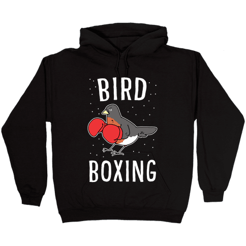 Bird Boxing Hooded Sweatshirt