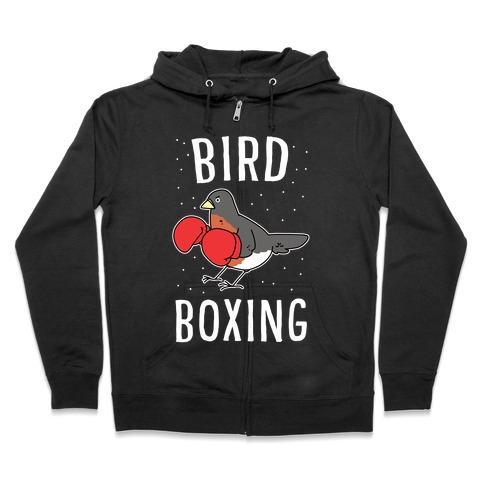 Bird Boxing Zip Hoodie