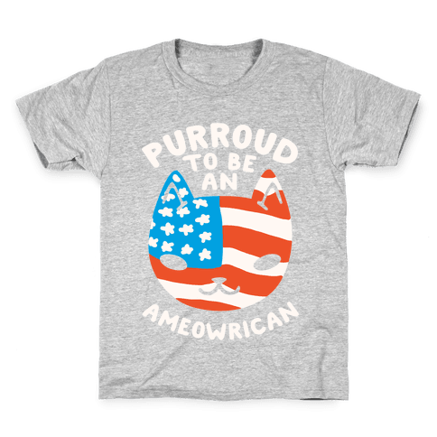 Purroud to be an Ameowrican Kids T-Shirt