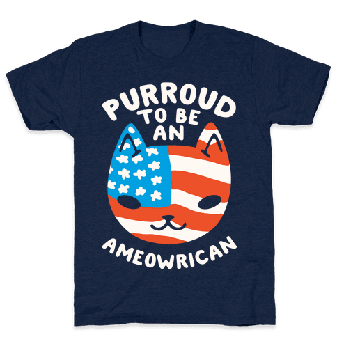 Purroud to be an Ameowrican Mens T-Shirt