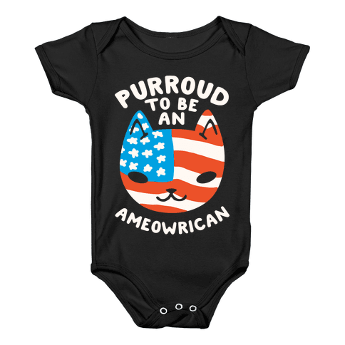 Purroud to be an Ameowrican Baby Onesy