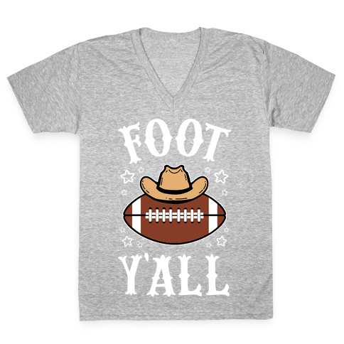 Footy'all V-Neck Tee Shirt