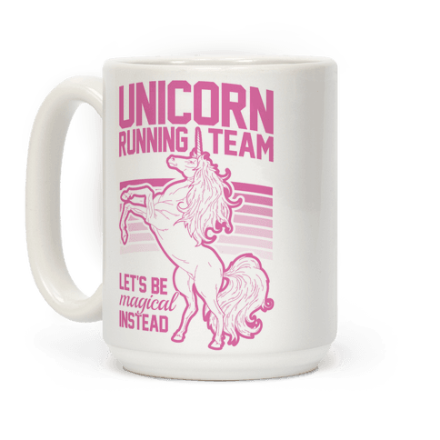 Unicorn Running Team Coffee Mug