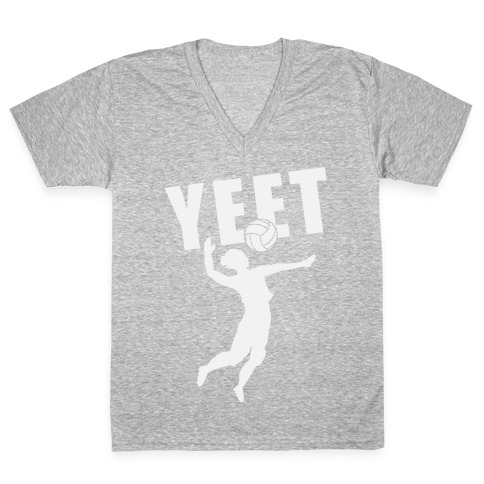 Volleyball YEET V-Neck Tee Shirt