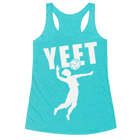 Volleyball YEET Racerback Tank Top