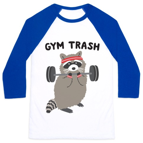 Gym Trash Raccoon Baseball Tee