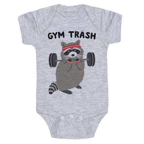Gym Trash Raccoon Baby Onesy