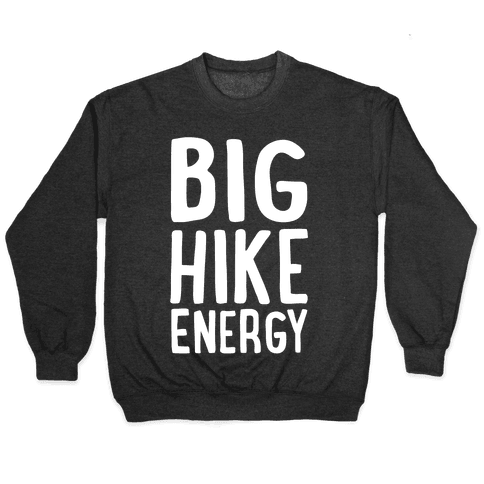 Big Hike Energy White Print Pullover